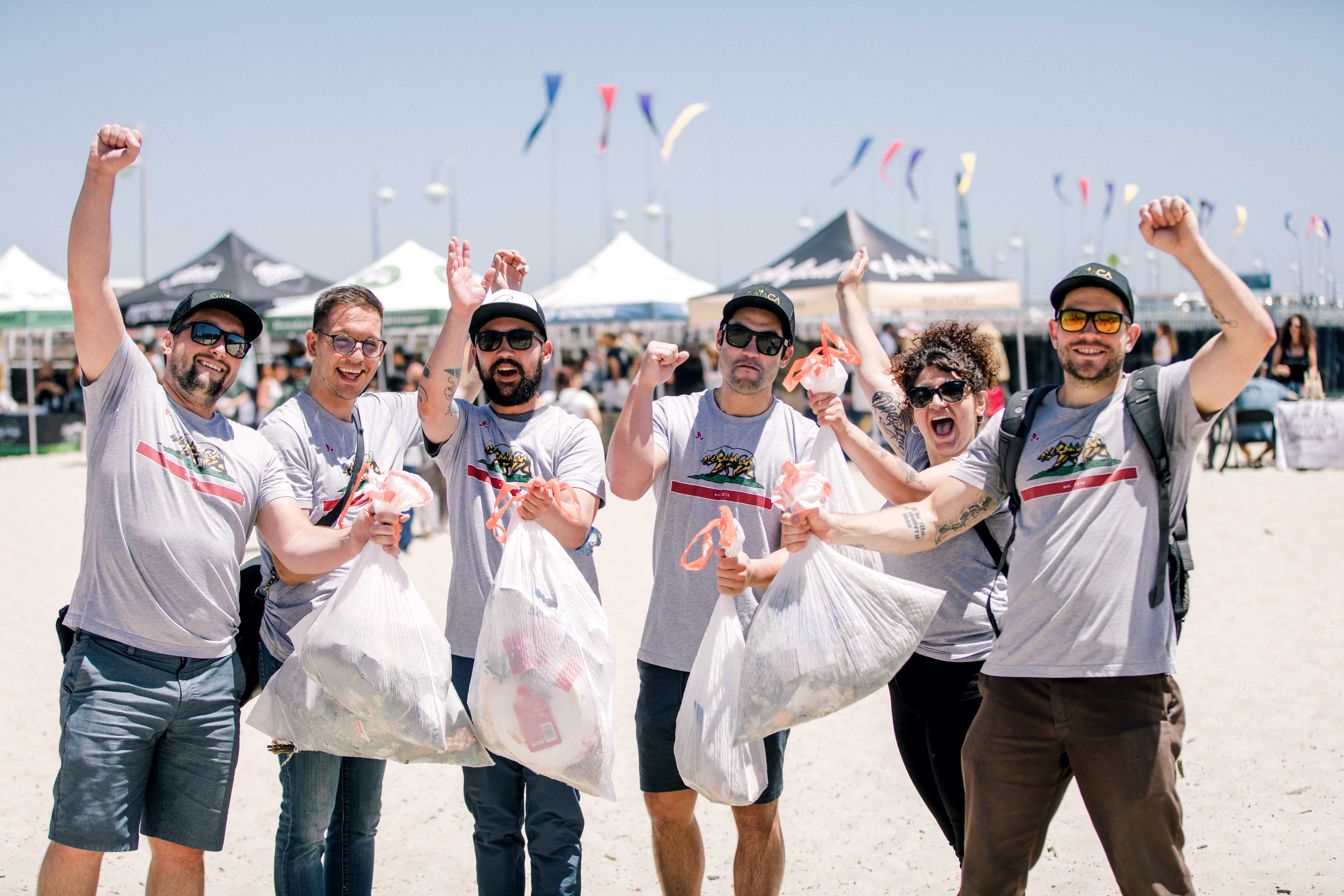 GAIACA at Big Pete's Beach Clean Up – Santa Cruz July 14, 2019