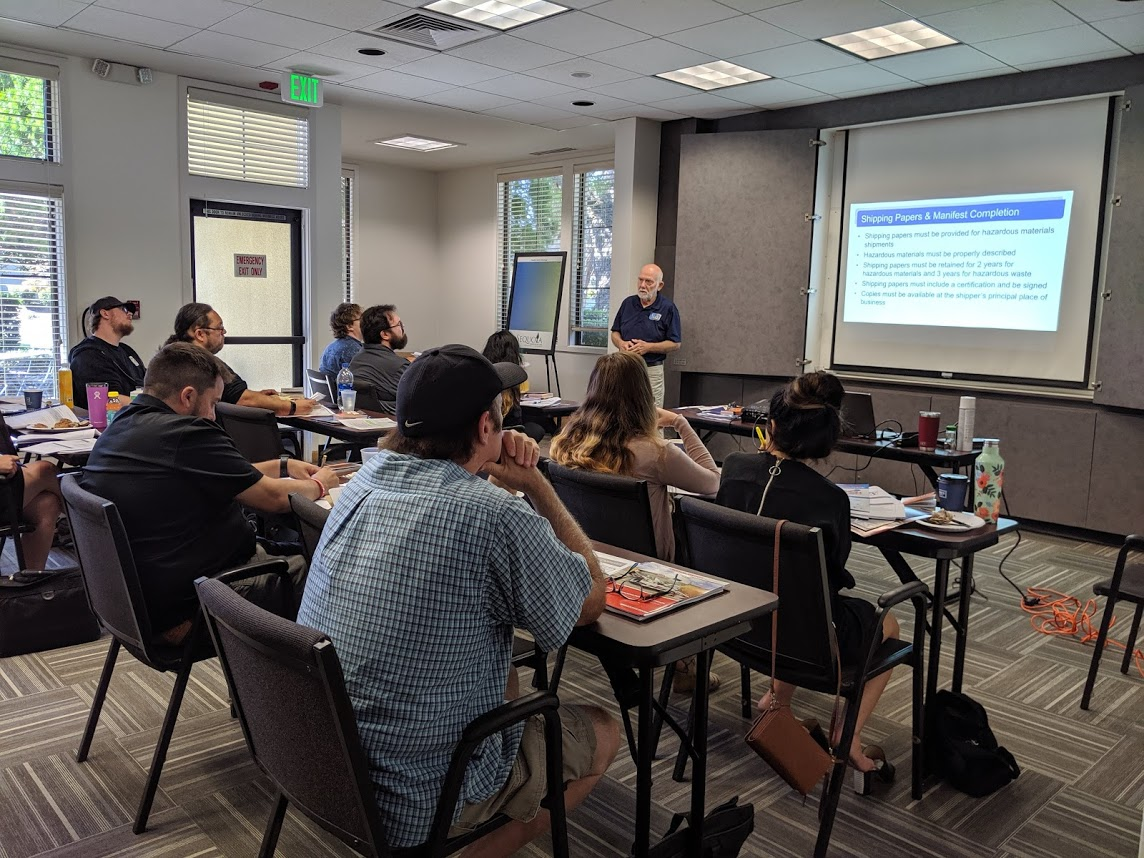 Hazardous Waste Manifest Certification Training October 17, 2019